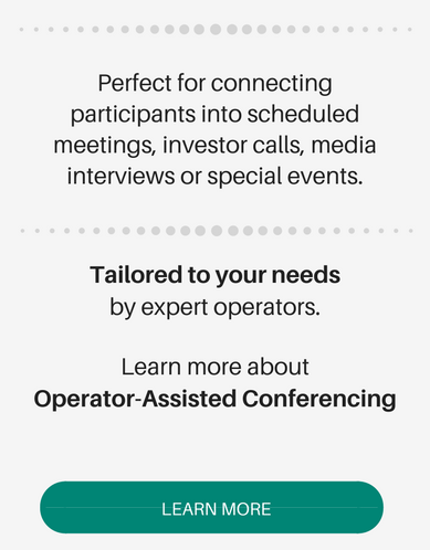 learn more about operator assisted conferencing