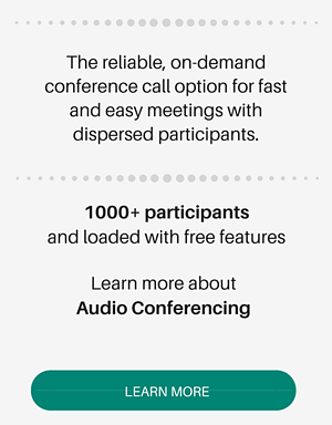 learn more about audio conferencing